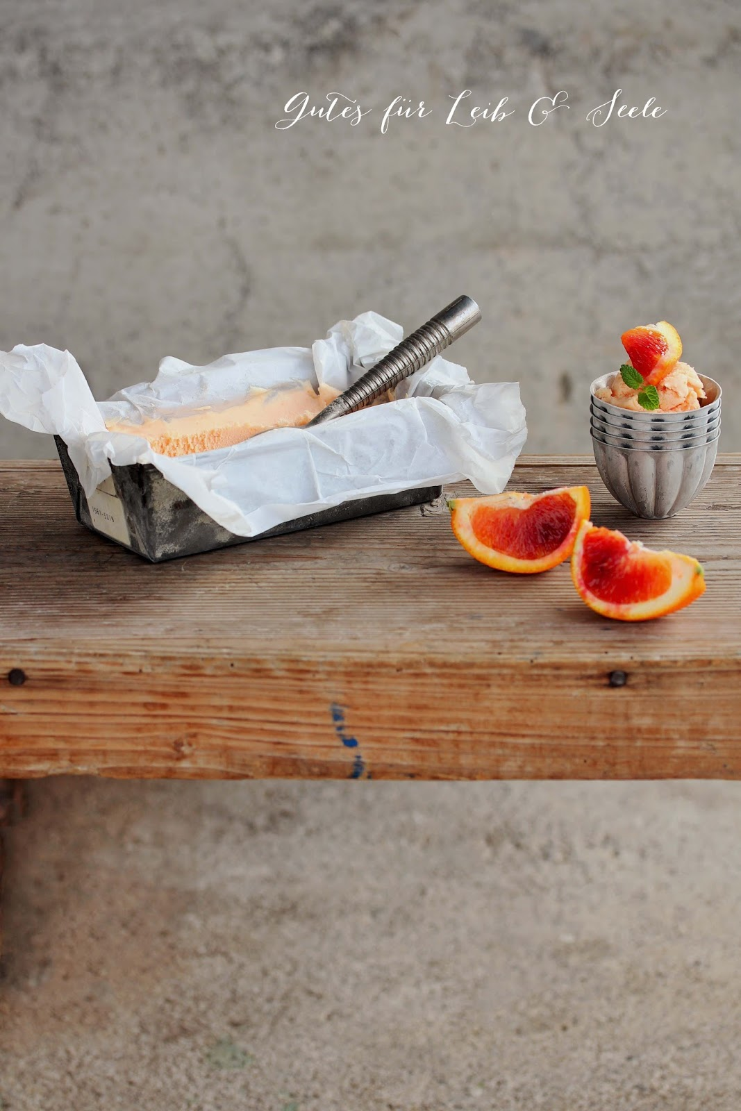 Orangen-Eis