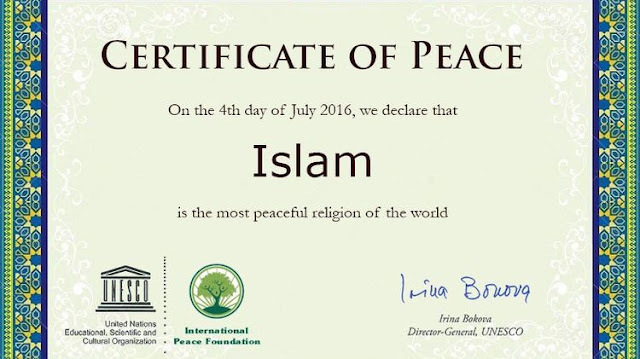 When will God die Certificate of Peace Islam Pakistan