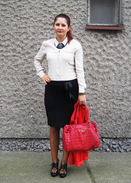 e41e8df5519a1 czerwona marynarka - stylizacja do pracy - blog o modzie i nie tylko ...