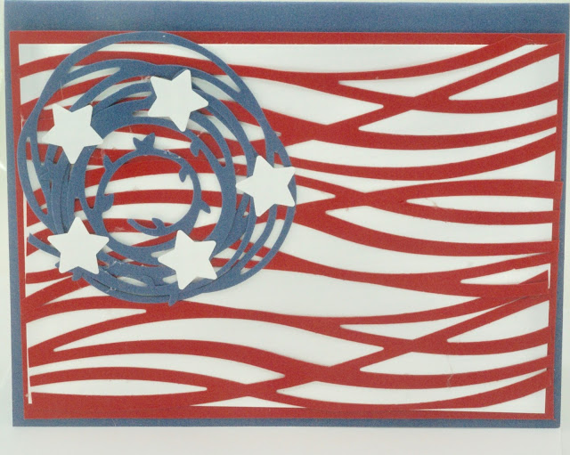 photo of Abstract American flag card by BayMoonDesign