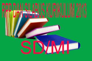 BUKU RPP Kurikulum 2013 Jenjang SD/MI
