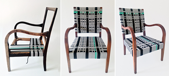 la seduta AQUAMARINE design by NODO Clara Arpini