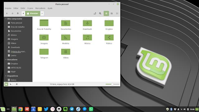 Linux Mint 19.1 Padrão