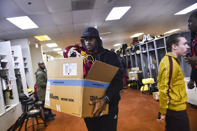 Robert Griffin III cleans out his locker, likely for a final time, at Redskins Park ~ HitNewsNow