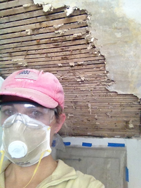 removing plaster ceiling
