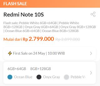 Harga Redmi Note 10S   Fishertekno