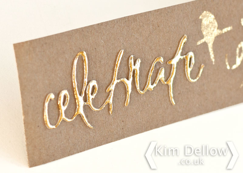 Gold Transfer foil on die-cut 3D foam