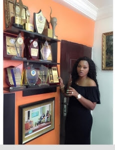 Proud Achiever: Mercy Aigbe Shows Off Her Awards Archive (Photo)