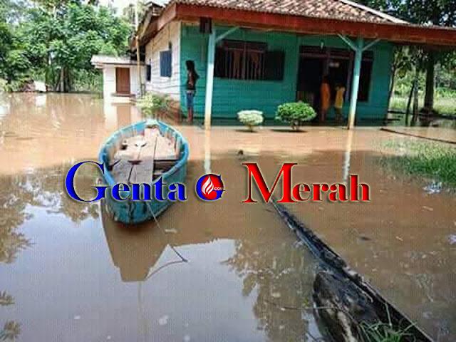 Tiga Kecamatan Pusat Ibukota Lampura Terendam Banjir