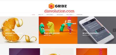 Template Terbaru 2017 Gridz Seo Responsive Download Gratis
