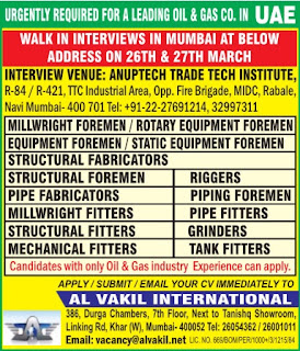 Recruitment to leading Oil & Gas Company in UAE