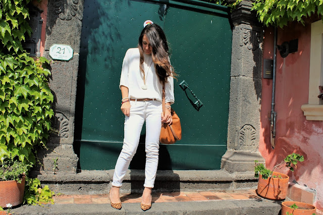 outfit jeans bianchi, stylegram