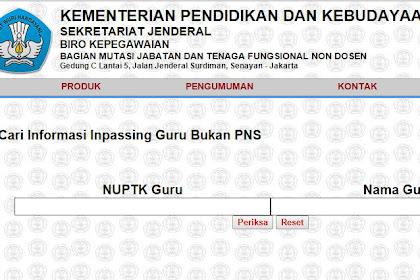 Cek SK Inpasing Guru Non PNS Terbaru 2016