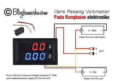 Cara Pasang Voltmeter Pada Rangkaian elektronika