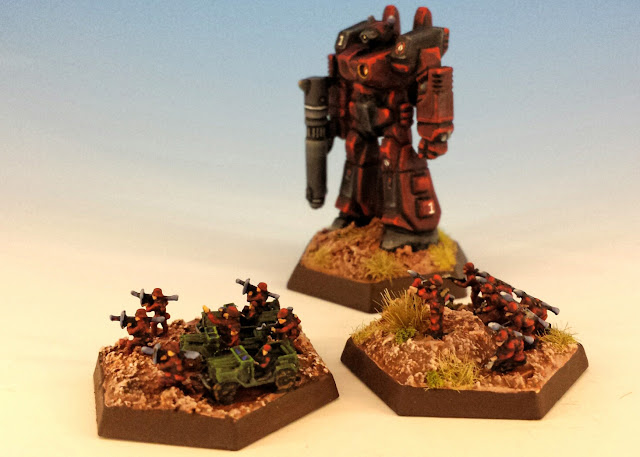 Painted Motorized Infantry for Battletech