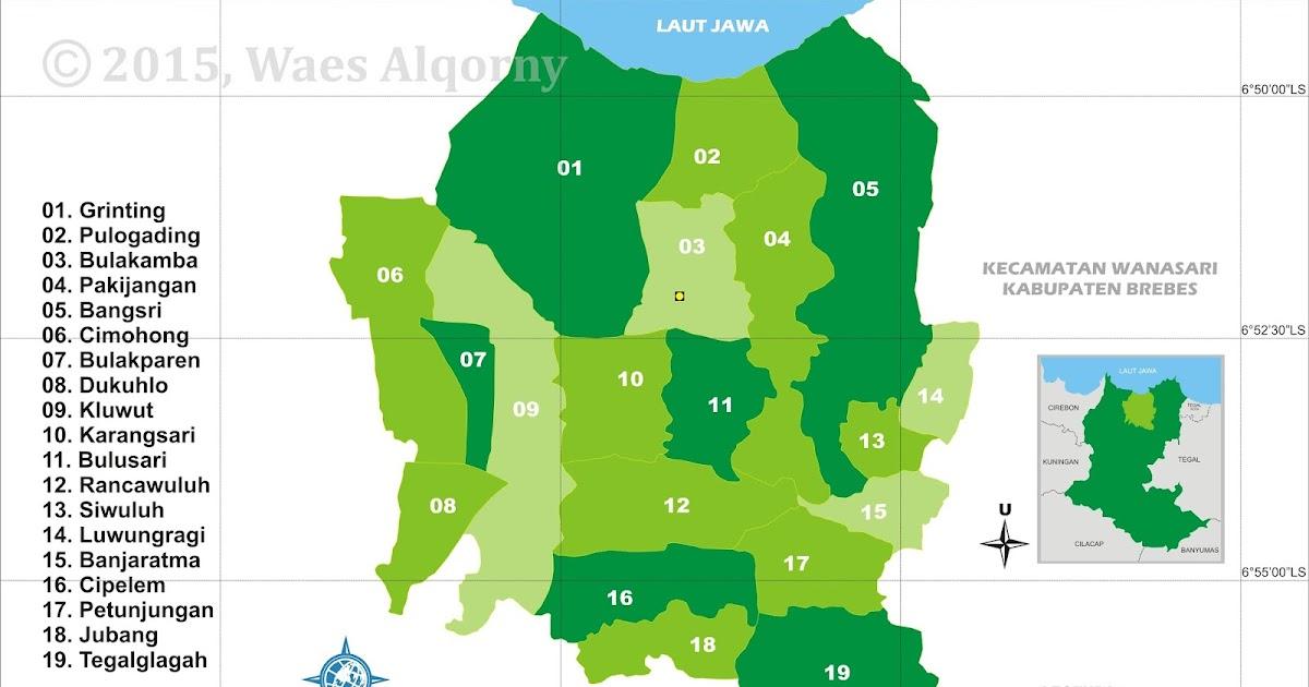 Peta Indeks Kecamatan Bulakamba - Brebes - My Diary