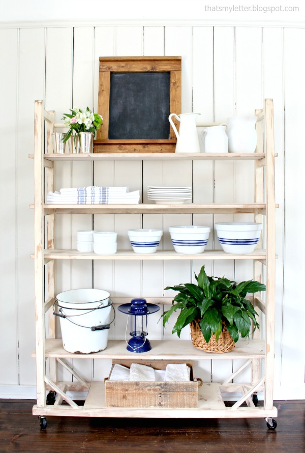 diy vintage shelving free plans