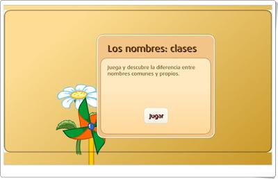 Los nombres: clases SM Librosvivos Lengua Española de 2º y 3º de Primaria