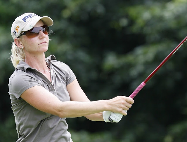 Louise Friberg shares the LPGA record for biggest comeback win