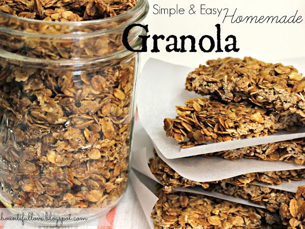 Simple & Easy Homemade Granola