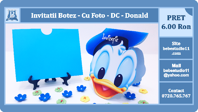 invitatii botez donald
