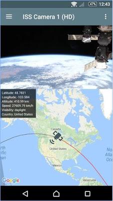 تطبيق الاندرويد ISS Live- HD Earth viewing  لمشاهدة الارض من محطة الفضاء الدولية