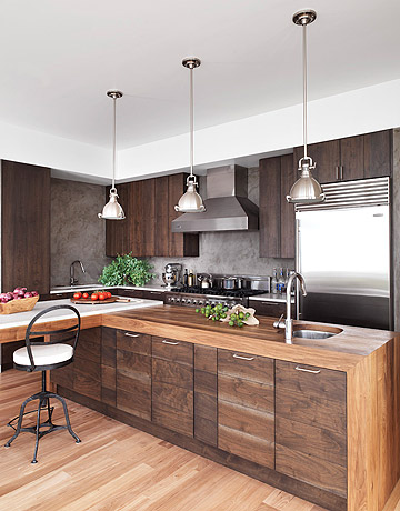 Warm Modern Kitchen I Came Across This Gorgeous In House Beautiful Magazine It Is Large Enough To Entertain Guest But Cozy Just For Two