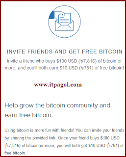 Invite friends and get free bitcoin.