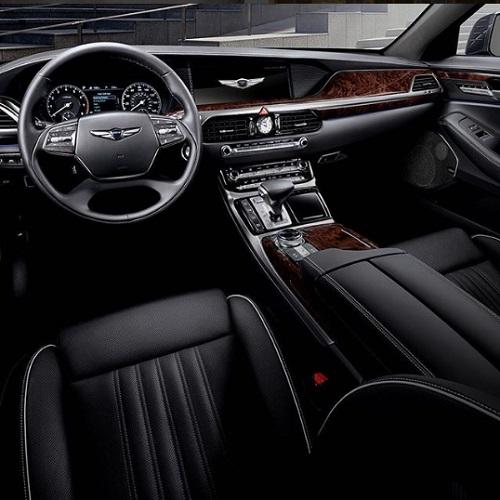 Interior design mobil mewah genesis korea selatan