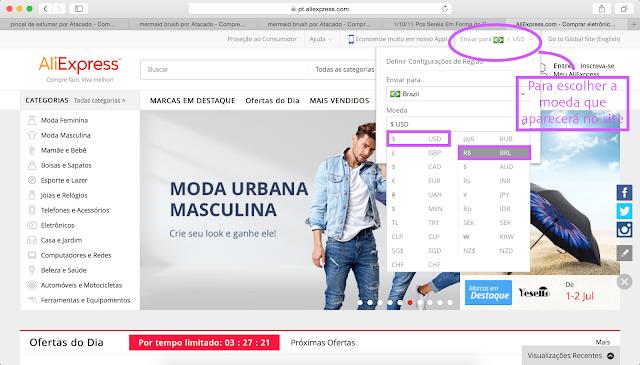 passo1: Tutorial de como fazer compras no site aliexpress (site da china)