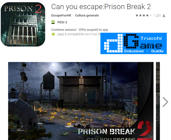 Soluzioni Can you escape:Prison Break 2  livello  1  2  3  4  5  6  7  8  9 10 | Trucchi e  Walkthrough level
