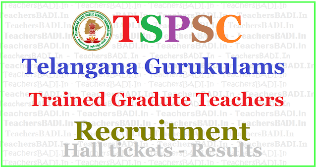 TSPSC Gurukulam TGTs Recruitment 2017, Apply online,hall tickets,results