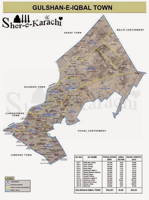 postcode of karachi gulshan-e-iqbal colleges
