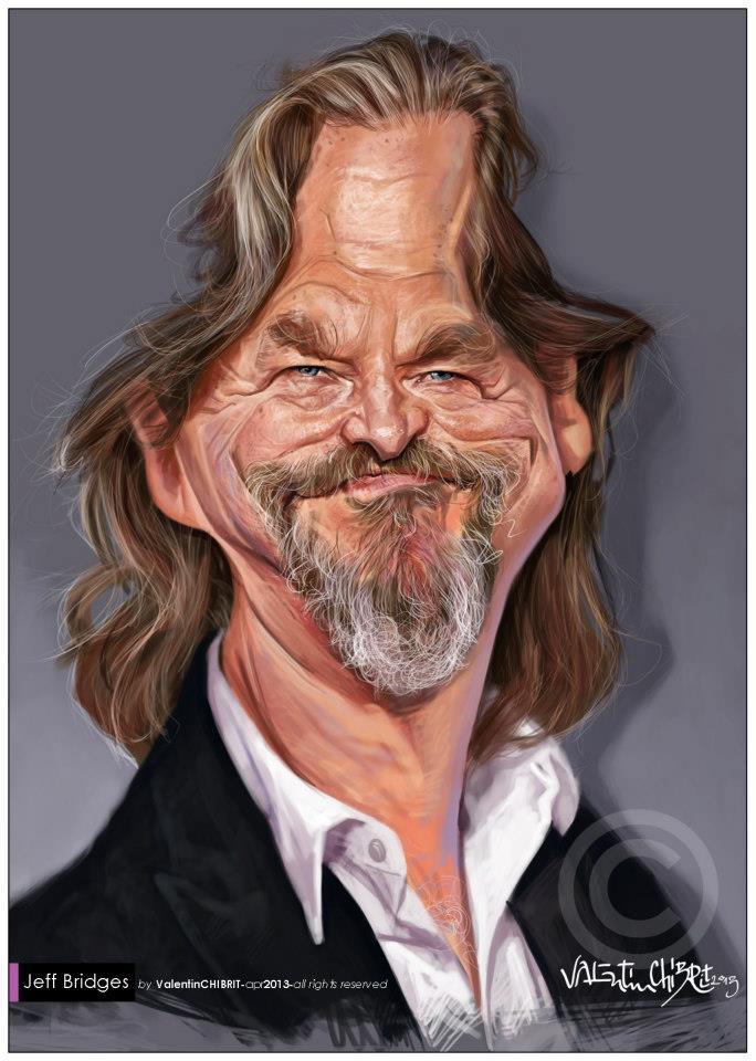 Caricatura de Jeff Bridges por Valentin Chibrit