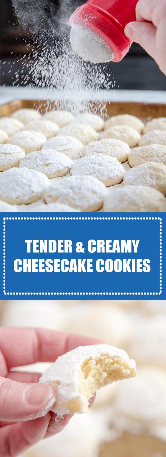 Tender Creamy Cheesecake Cookies