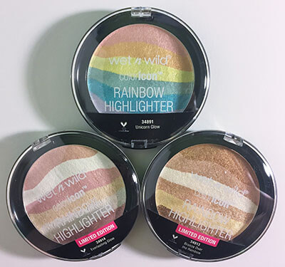 wet n wild coloricon Rainbow Highlighters