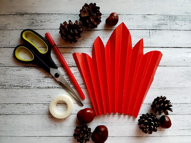 jesienne liście i drzewo - prezent na Dzień Chłopaka DIY