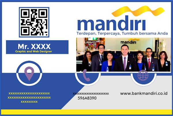 DESAIN KARTU NAMA GRATISAN BANK MANDIRI