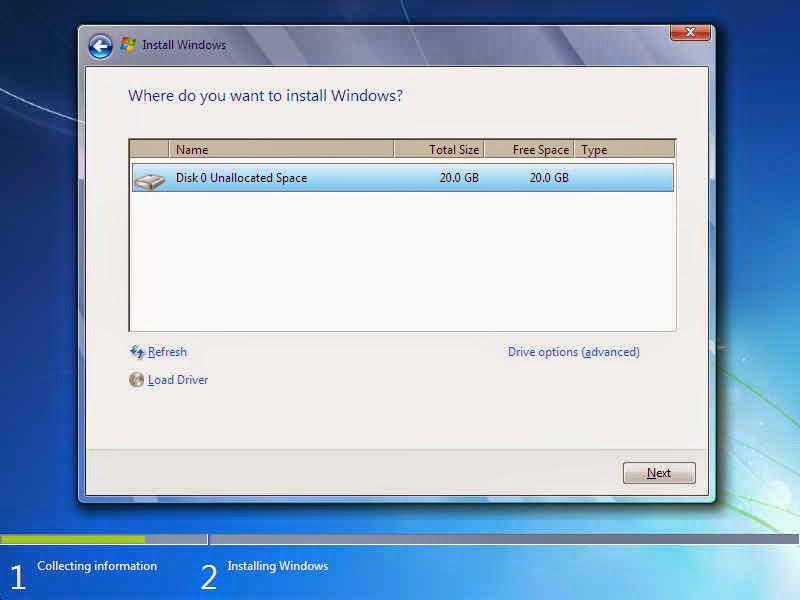 Tutorial Install Windows 7 Lengkap Dengan Gambar