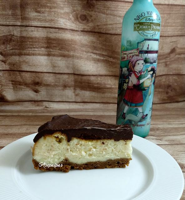 Cheesecake de Crema de Polvorón. Vídeo Receta