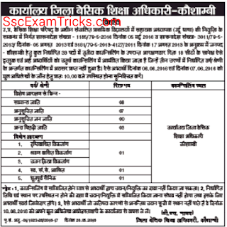 UP Urdu Teacher counseling fo Kaushambi
