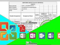 APLIKASI KKM SD KTSP KELAS 1,2,3,4,5,6 Format Excel