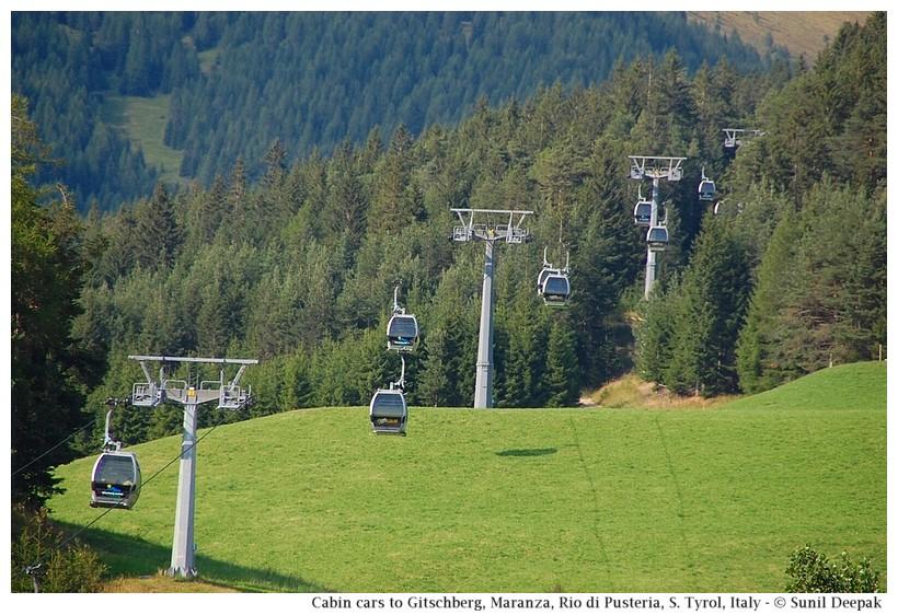 Cabin-cars to Gitschberg, Maranza (Rio di Pusteria, Alto Adige, Italy) - Images by Sunil Deepak