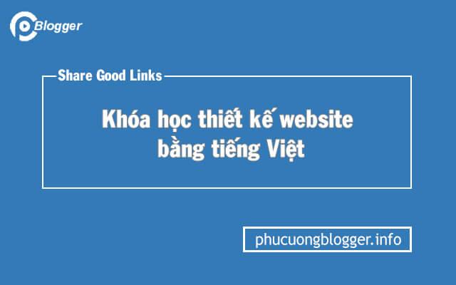 Chia sẻ khóa học thiết kế website thành thạo bằng tiếng Việt