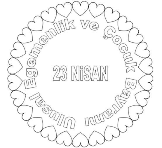 23 Nisan Boyama Sayfaları Dersteknikcom
