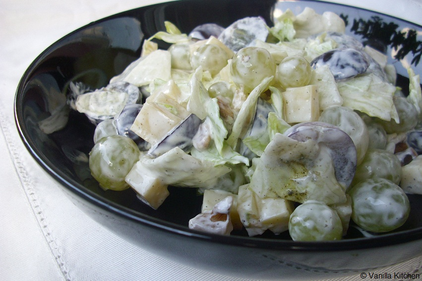 No Plain Vanilla Kitchen Trauben Käse Salat