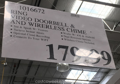 Deal for the Ring Video Doorbell and Wireless Chime at Costco