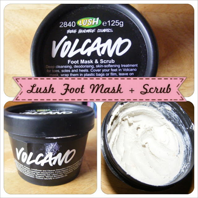 A picture of Lush Volcano Foot Mask & Scrub