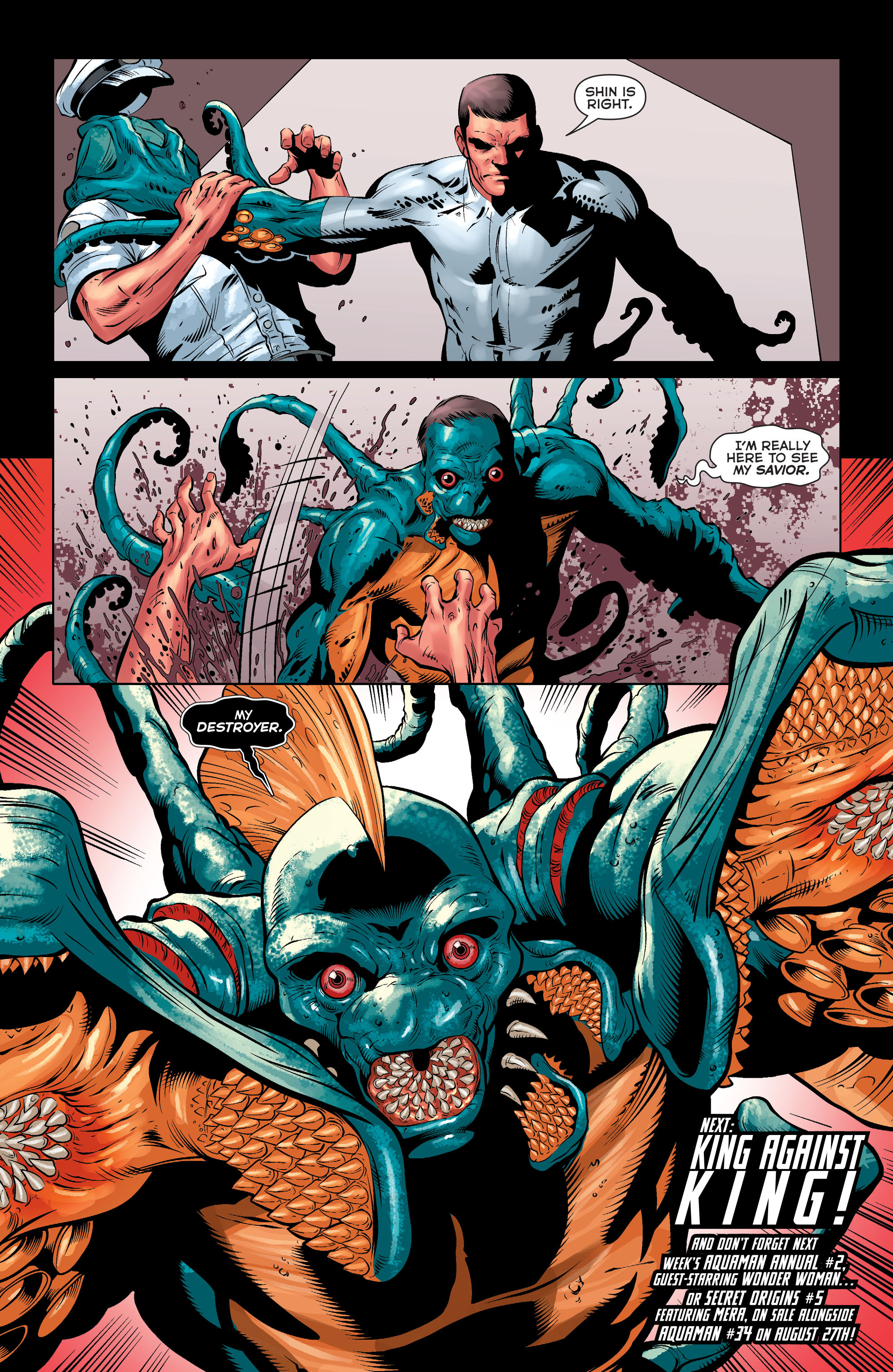 Read online Aquaman (2011) comic -  Issue #33 - 21