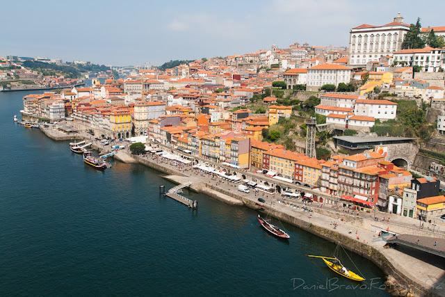 Vista de Oporto desde el puente de Luis I